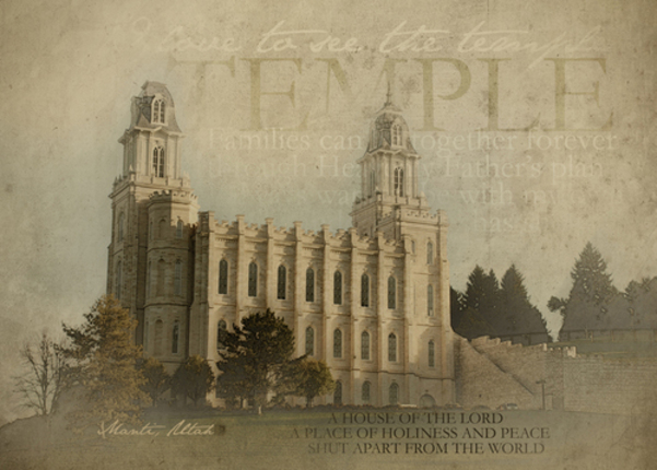 Manti Temple Print