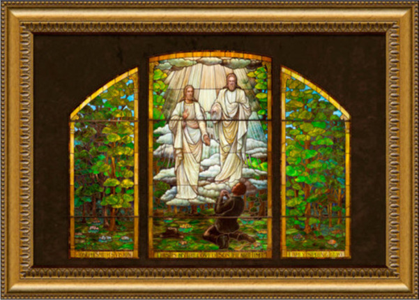 """First Vision, 23"""" x 31"""" Stained Glass"""