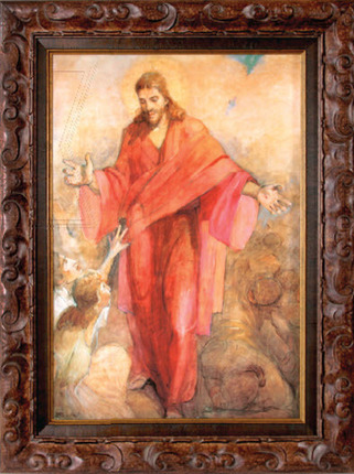 5052100 christ in red robe