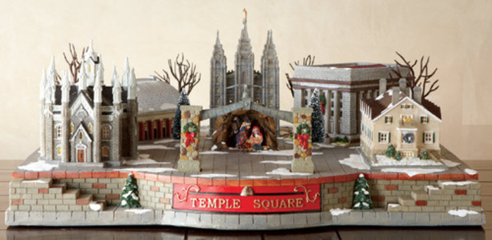 Temple Square Christmas Village Set