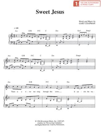 Sweet Jesus (Sheet Music Download)