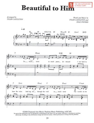 Beautiful To Him Sheet Music Download Deseret Book