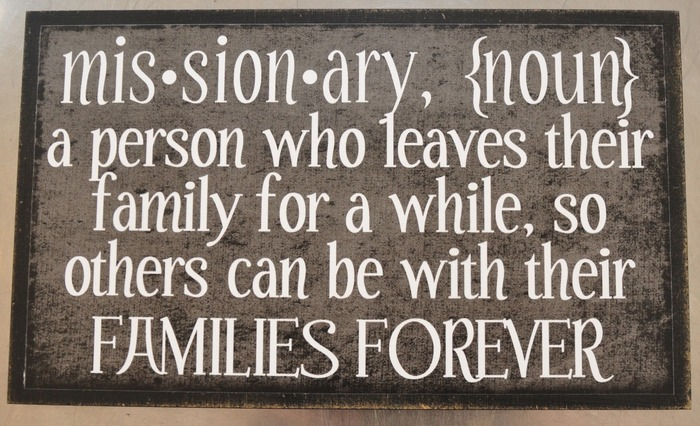 Missionary (6x10 Plaque)