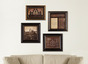Historical Art Collection (4 Piece Framed Set)