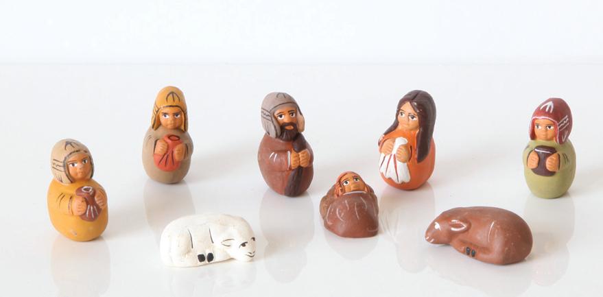 Peruvian weeble nativity