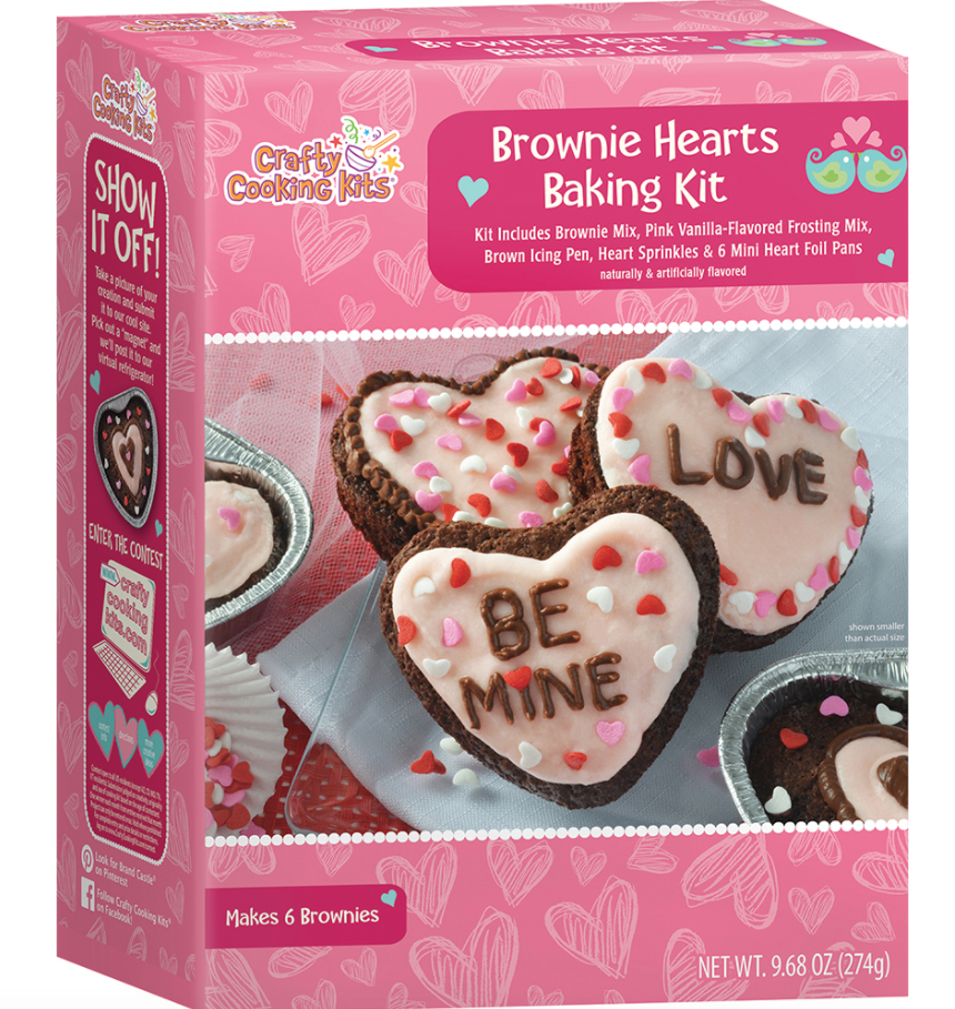 Brownie hearts baking kit
