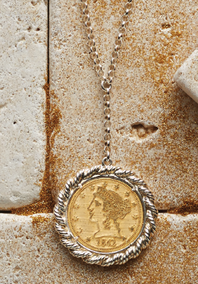 Emmas coin necklace