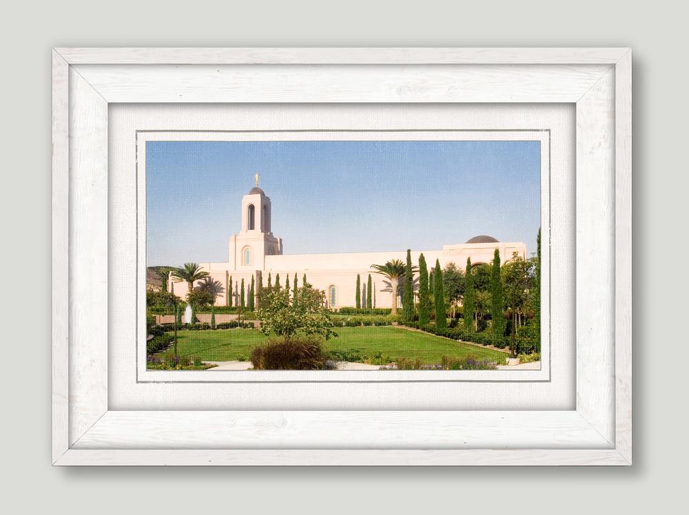 White Framed Newport Beach Temple (22x16 Framed Art) - Deseret Book