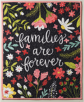 Families are forever wall hanging quilt navy