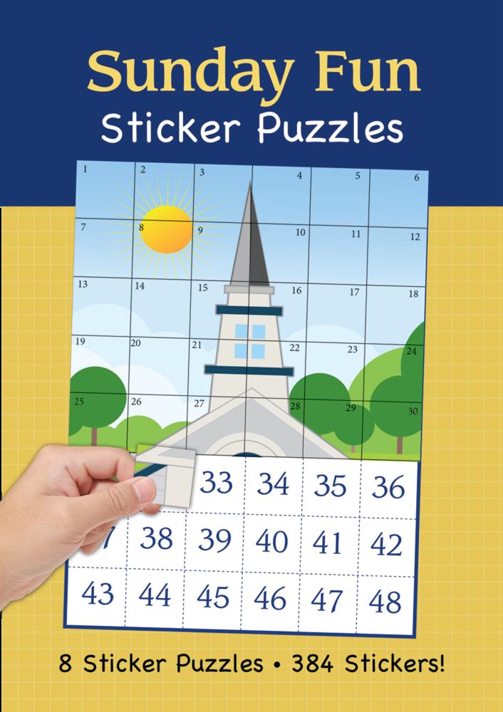Sunday fun sticker puzzles