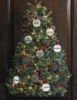 Christmas tree wreath w ornaments