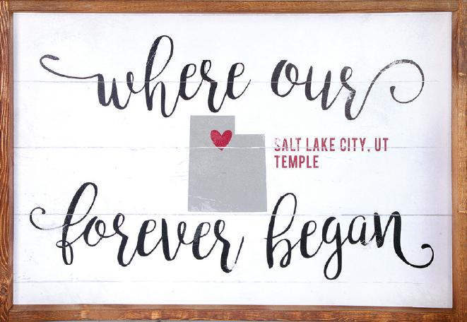 0229a022f435 Where Our Forever Began  Salt Lake Temple (20x30 Framed Art ...