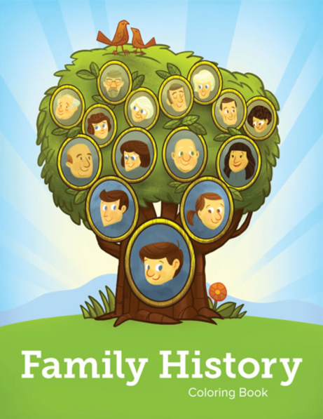Family history coloring book