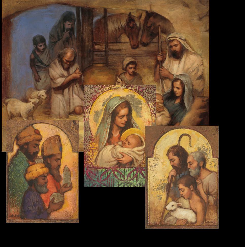 Nativity christmas cards annie henry nader