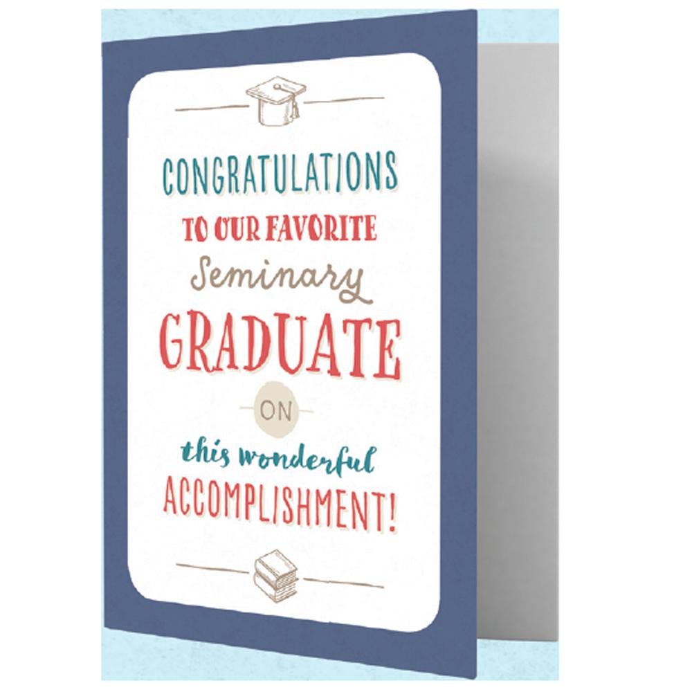 Seminary Graduate Greeting Card